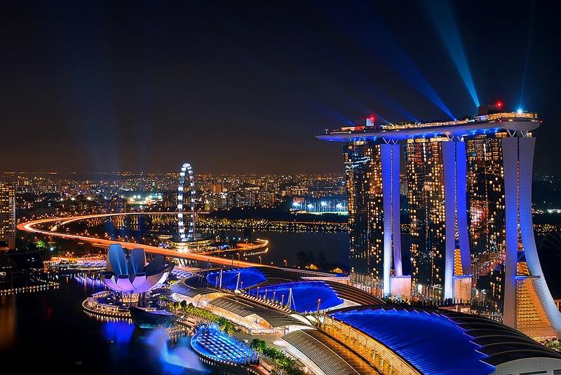 استخر بی نظیر هتل مارینا بی سندز سنگاپور