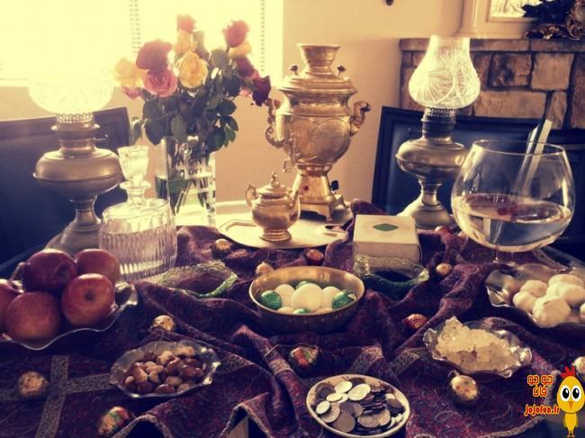 تزیین سفره هفت سین برای عید 96