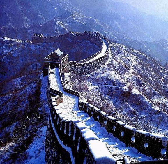 عکس های زیبای دیوار چین در زمستان