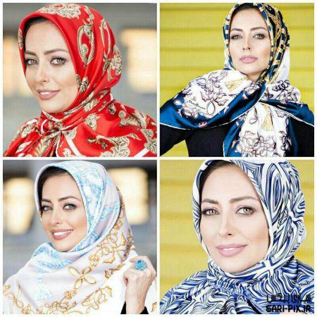 عکس های جدید نفیسه روشن در تبلیغ شال و روسری