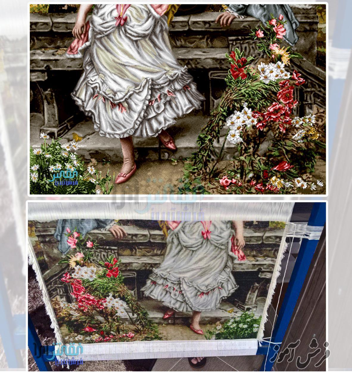 تابلو فرش بافته شده تبریز شهر سردرود