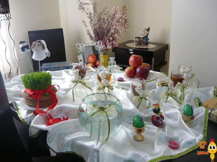 Khoondani.Com Haft sin Table Design 10 تزیین سفره هفت سین 96 با ایده های جدید و زیبا + تصاویر 100 مدل