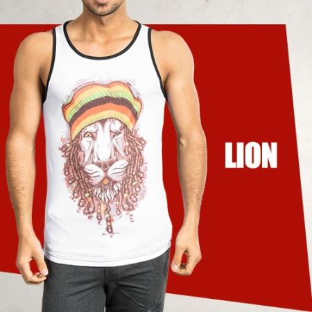 خرید رکابی طرح دار Lion