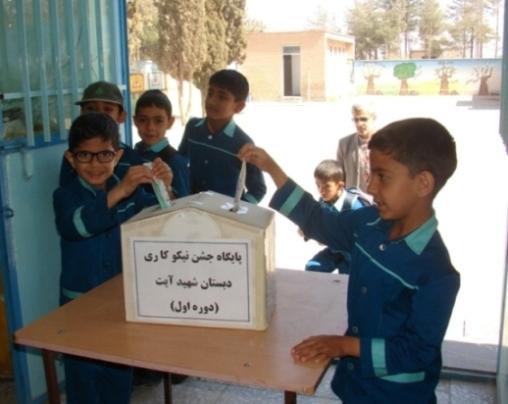 نقش آفرینی دانش آموزان دبستان شهيد آيت(دوره اول) در کمک به نیازمندان