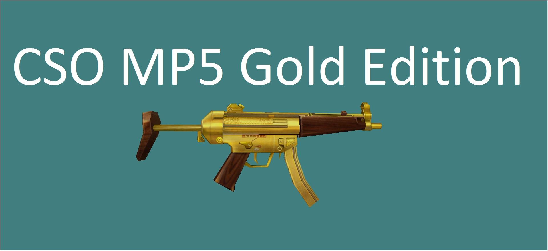 دانلود اسکین ام پی5 CSO MP5 Gold برای کانتر 1.6
