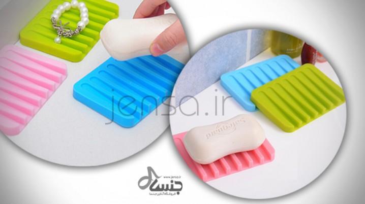 خرید زیر صابونی رنگی ساده سیلیکونی 2عددی
