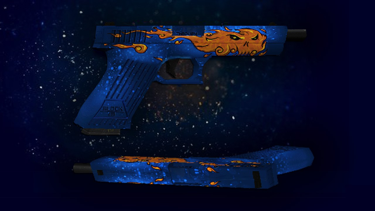 دانلود اسکین گلاک Glock-18 | Fire Elemental برای کانتر 1.6