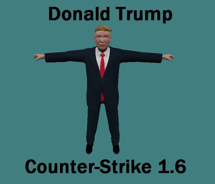 دانلود اسکین پلیر (Trr) Donald Trump برای کانتر استریک 1.6