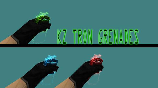 دانلود اسکین ایتم Kz Tron Grenades برای کانتر 1.6