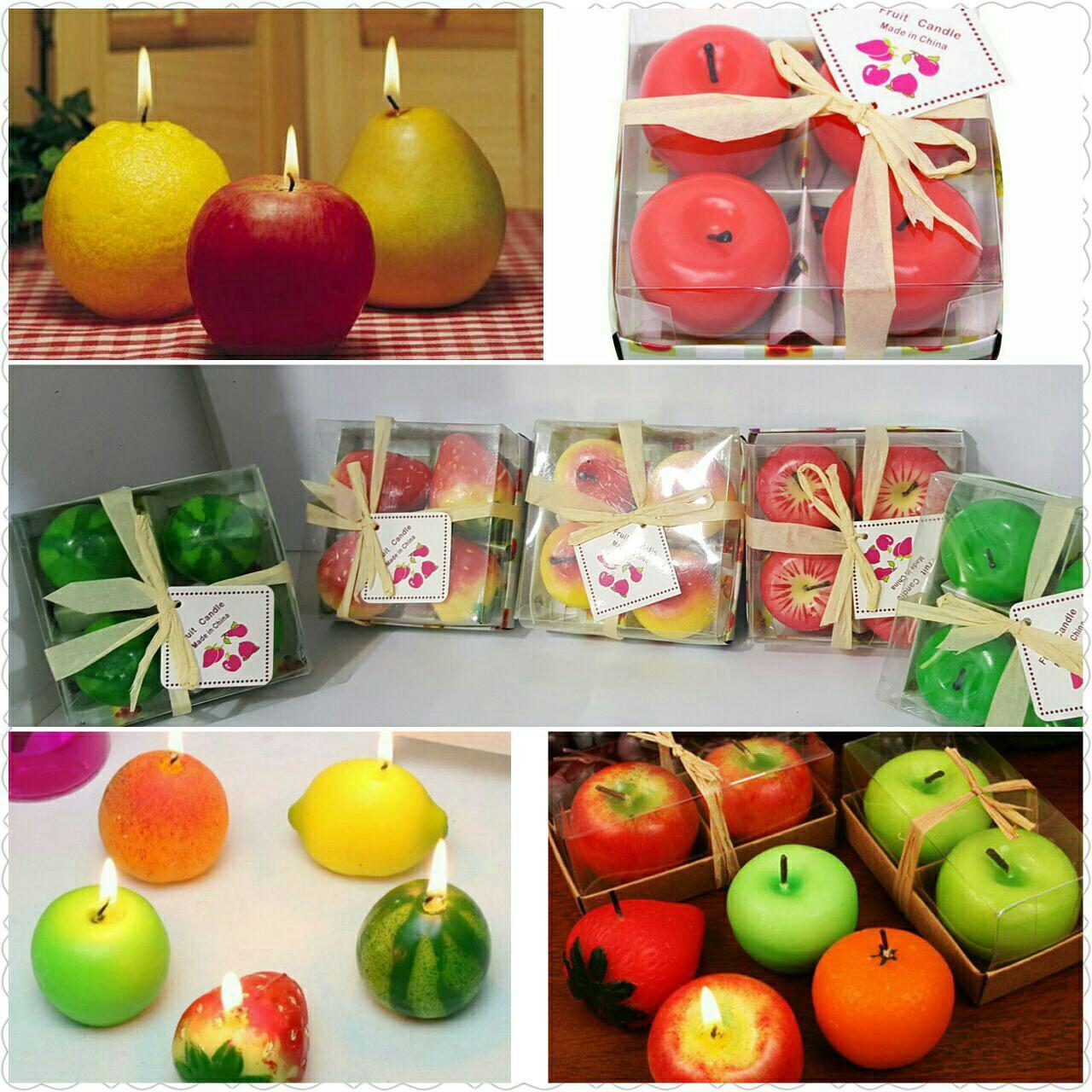 خرید شمع های فانتزی میوه ای