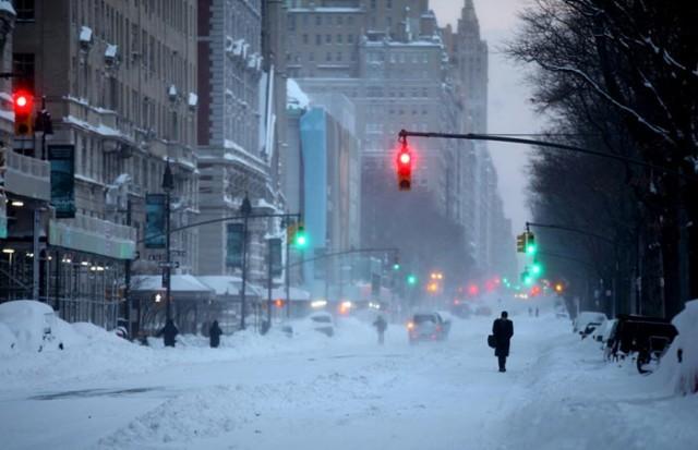 کولاک شدید برف در آمریکا