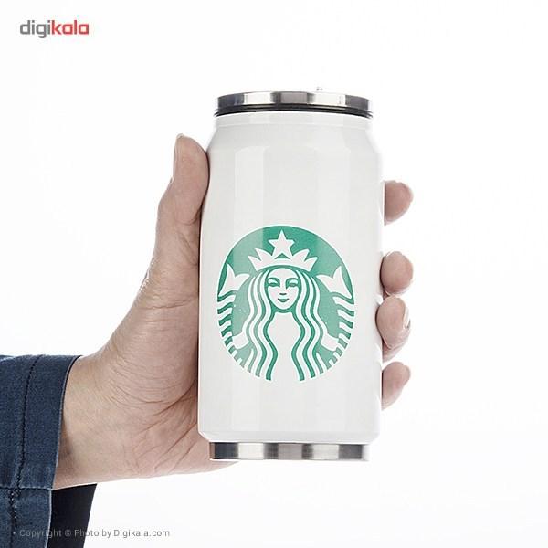 خرید فلاسک نیم لیتری کولاباتل مدل Starbucks Mid Logo