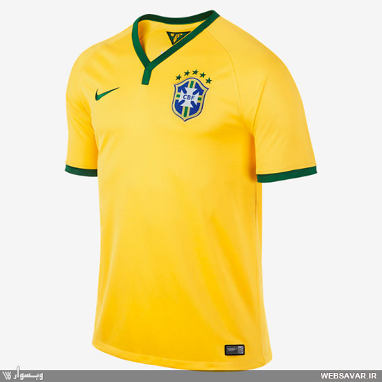 لباس تیم فوتبال برزیل در جام جهانی
