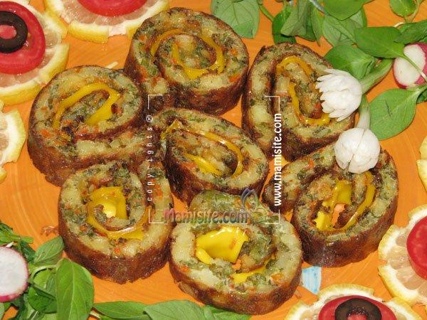 آموزش تهیه رولت سبزیجات
