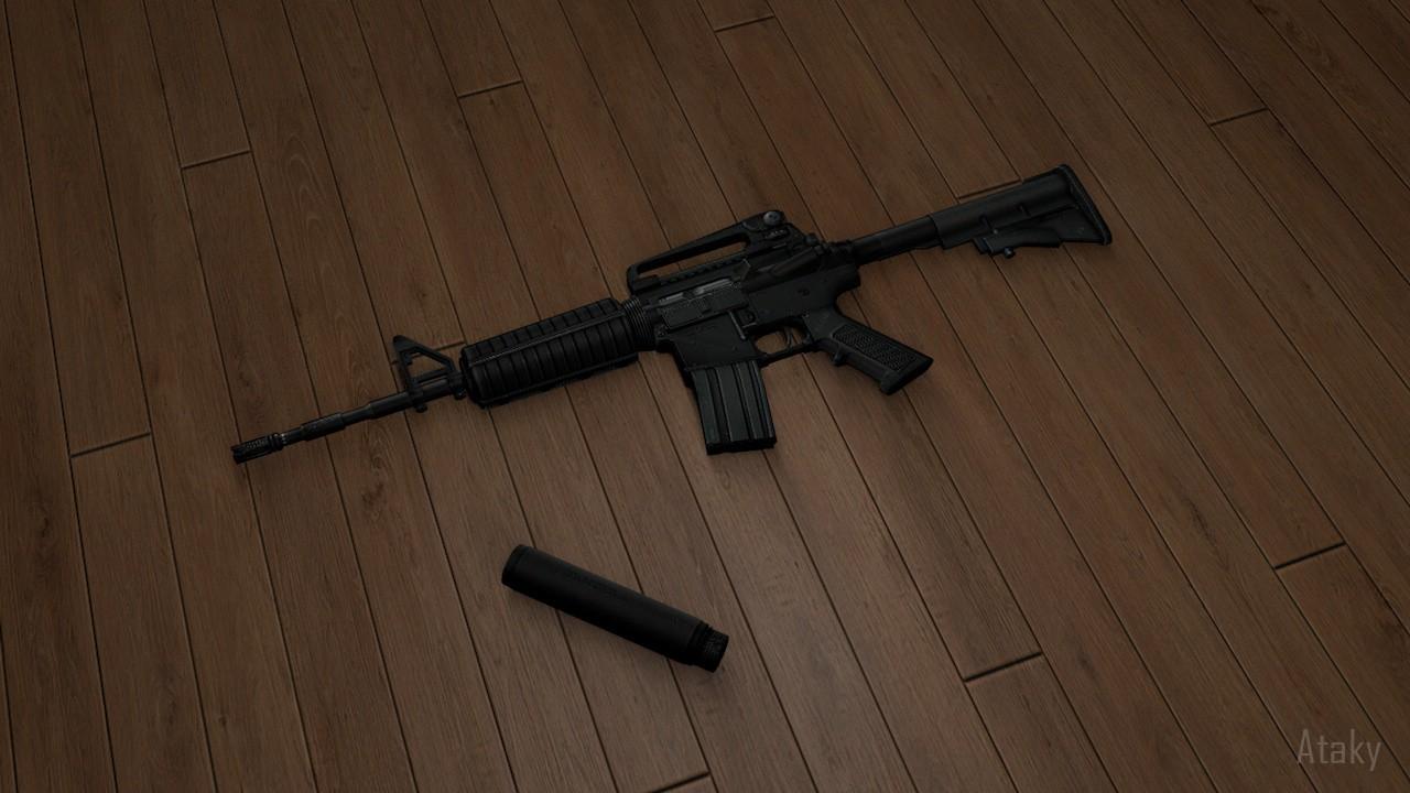 دانلود اسکین ام فور M4A1 Carbine برای کانتر استریک 1.6