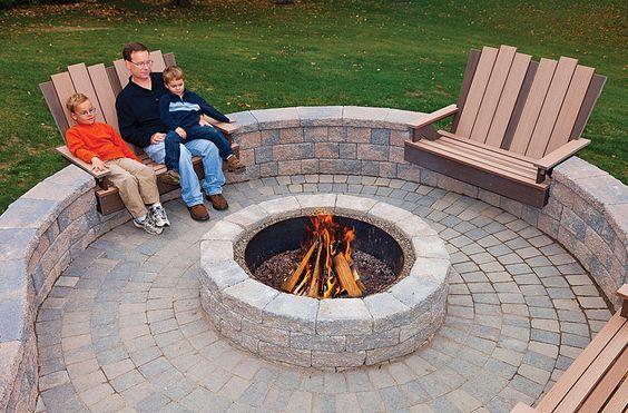 دو راهنمایی برای درست کردن منقل داخل باغ (گودال یا جایگاه آتش)