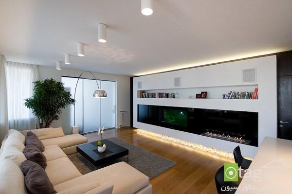 modern small apartment معماری داخلی مدرن و نوین در واحدهای آپارتمانی کوچک