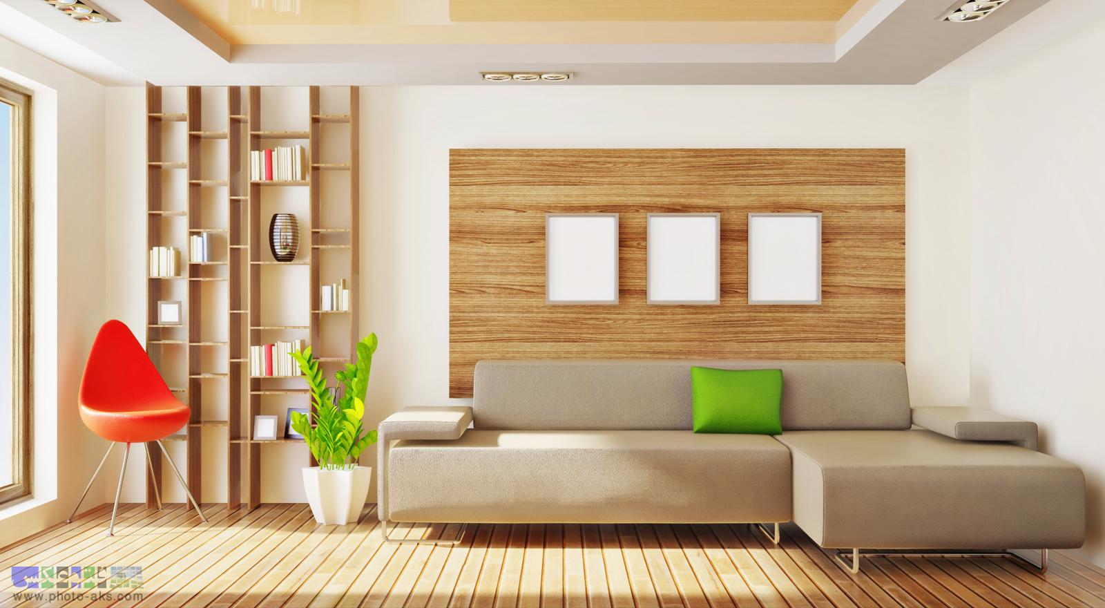 دوکراسیون چوبی حال کوچک. wooden decoration