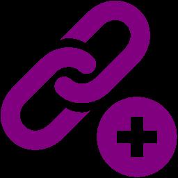 Free purple add link icon - Download purple add link icon