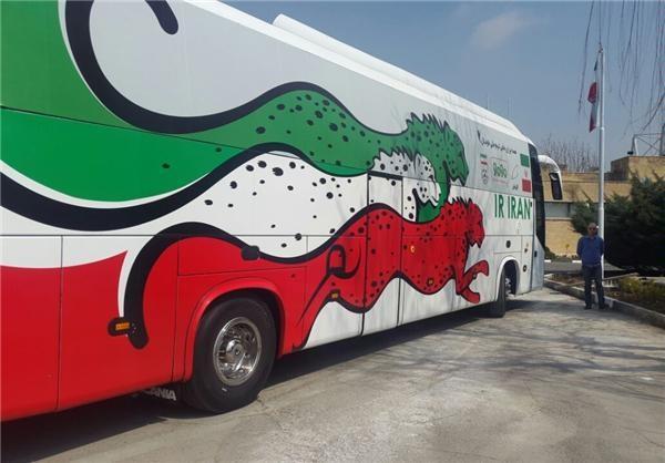 از اتوبوس تیم ملی فوتبال ایران رونمایی شد