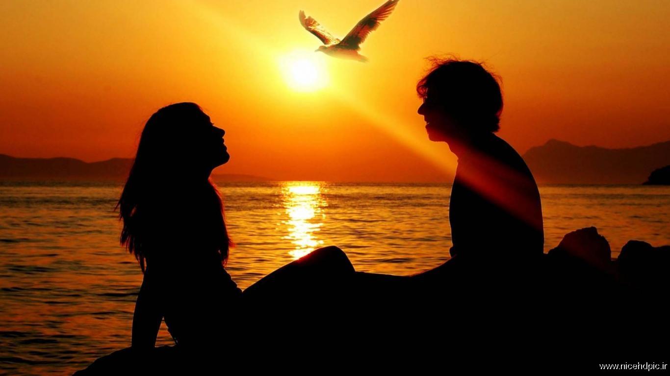تصاویر عاشقانه غروب آفتاب