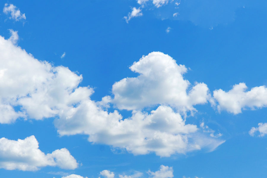 تصویر ابر در آسمان