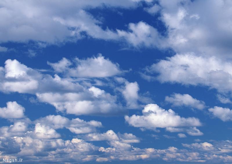 دانلود تصاویر ابرهای زیاد در آسمان آبی