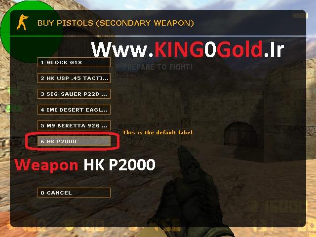 دانلود گان Weapon HkP2000 برای بوی منوی کانتر استریک 1.6