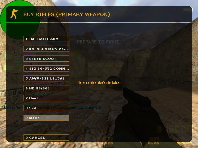 دانلود گان Weapon M4A4 برای بوی منوی کانتر استریک 1.6