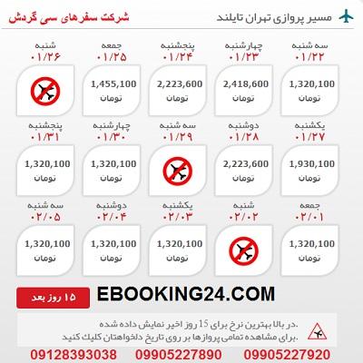 خرید بلیط هواپیما تهران به تایلند