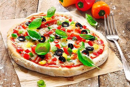 پیتزا فلفل دلمه ای ( فوق العاده کم کالری )