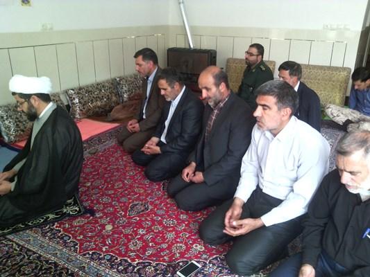 دیدار فرمانده سپاه در دفتر امام جمعه و دیدار با حاج آقا هاشمی