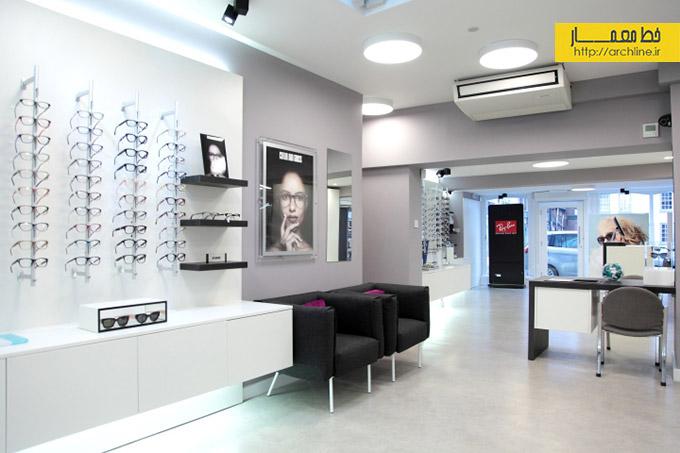 دکوراسیون داخلی عینک فروشی