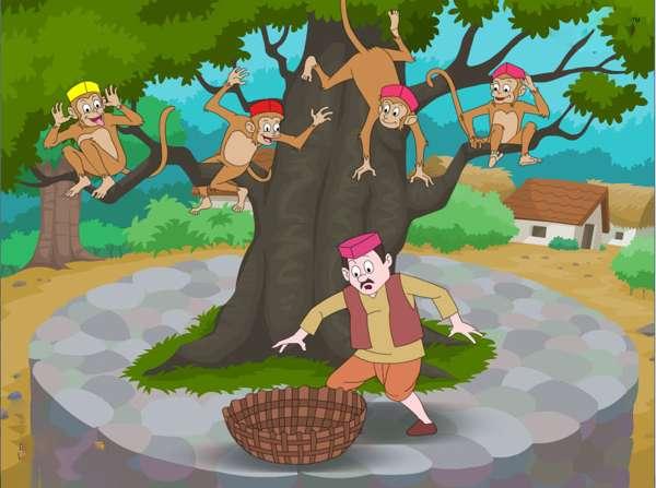 داستان مرد کلاه فروش و میمون ها The story of a man selling hats and monkeys