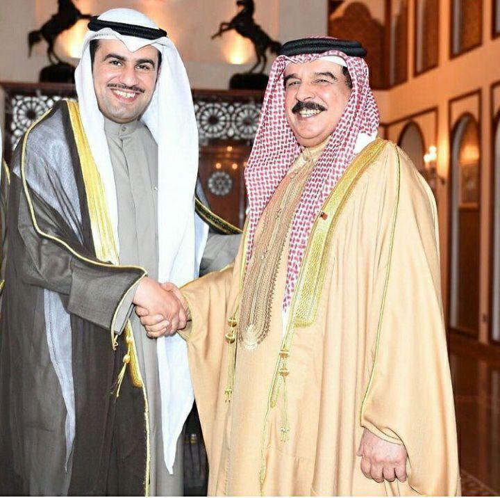 النائب ثامر سعد السویط مع ملک البحرین