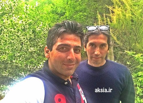 تک عکس زیبا از حمید گودرزی در کنار دوستش