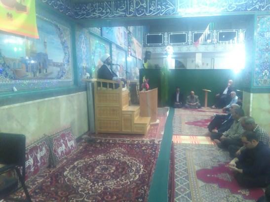 حضور امام جمعه محترم شهر در مراسم اعیاد شعبانیه و جشن میلاد مسجد جوزدان