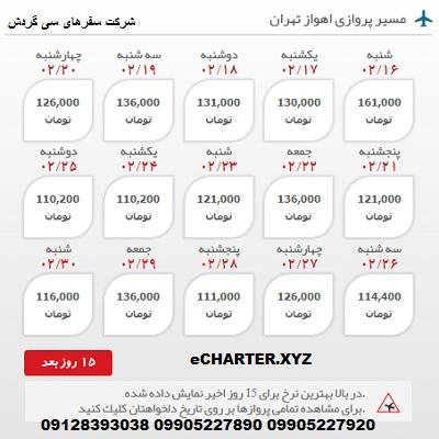 خرید بلیط هواپیما اهواز به تهران + خرید بلیط هواپیما لحظه اخری اهواز به تهران + بلیط هواپیما ارزان ق�