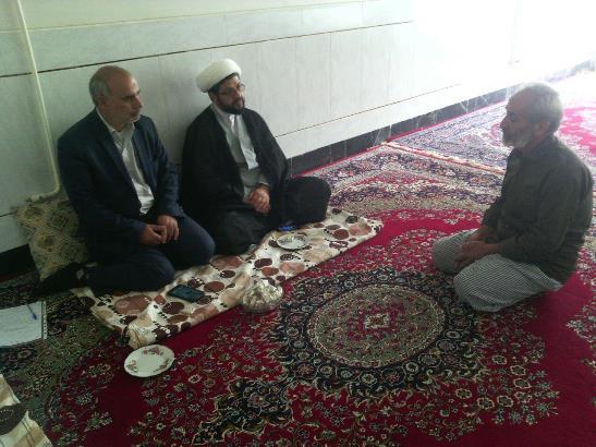 بازدید از جانباز آقای سلامی از جانبازان جنگ