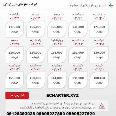 خرید بلیط هواپیما ازتهران به مشهد + خرید بلیط هواپیما لحظه اخری ازتهران به مشهد + بلیط هواپیما ارزان