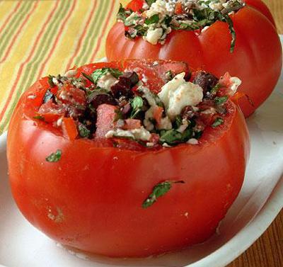 سالاد گوجه فرنگی شکم پر