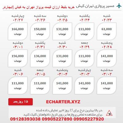 خرید بلیط هواپیما تهران به کیش + خرید بلیط هواپیما لحظه اخری تهران ب کیش + بلیط هواپیما ارزان قیمت ته