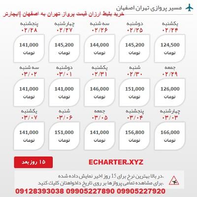خرید بلیط هواپیما تهران به اصفهان + خرید بلیط هواپیما لحظه اخری تهران به اصفهان + ارزان ترین قیمت بل�