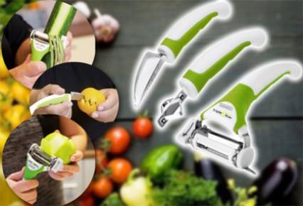 خرید پوست کن میوه 3 تیغه مدل ترایپ اسلایسر Triple Slicer