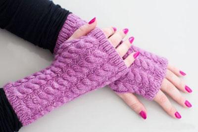 طرز بافت دستکش های بدون انگشت