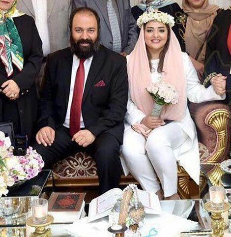 ازدواج نرگس محمدی و علی اوجی + عکس
