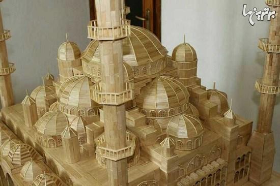 ساخت مسجد کبود ترکیه با 15000 چوب بستنی