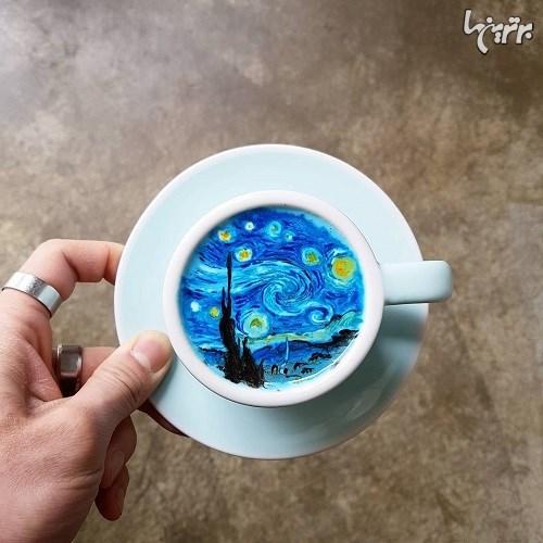 شاهکار باریستای کره ای روی فنجان های قهوه