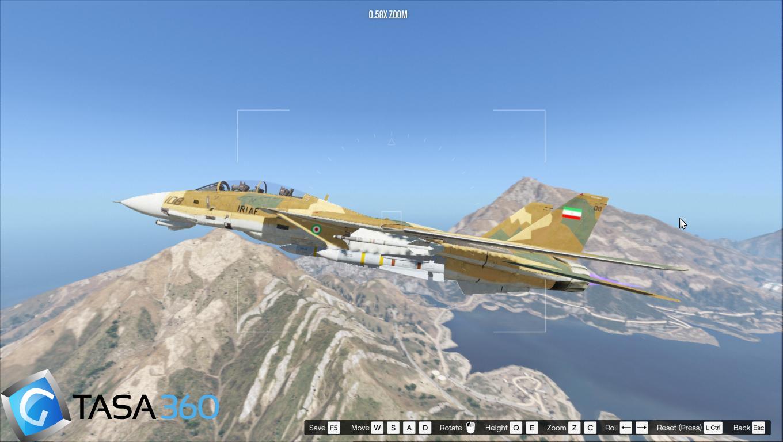 جت f14 نیروی هوایی ارتش ایران برای gta v