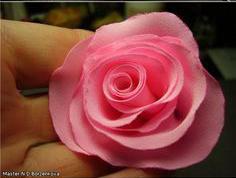 آموزش ساخت گل رز پارچه ای